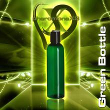 120 ml Green Plastic Bottle - Disk Cap