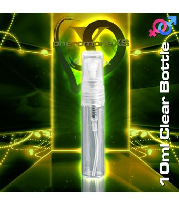 10ml Clear Plastic Bottle - Atomizer Top