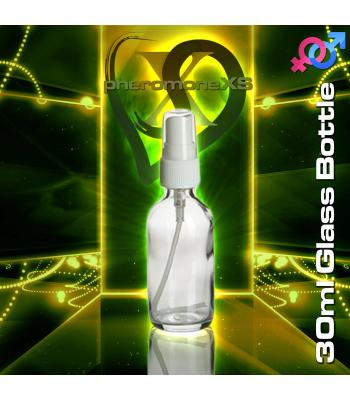 30ml Clear Glass Bottle - Atomizer Top