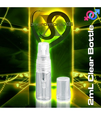 2ml Clear Plastic Bottle - Atomizer Top